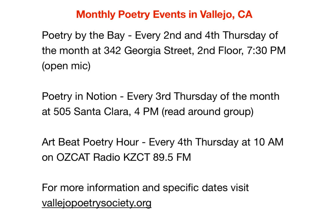 Monthly Poetry Events